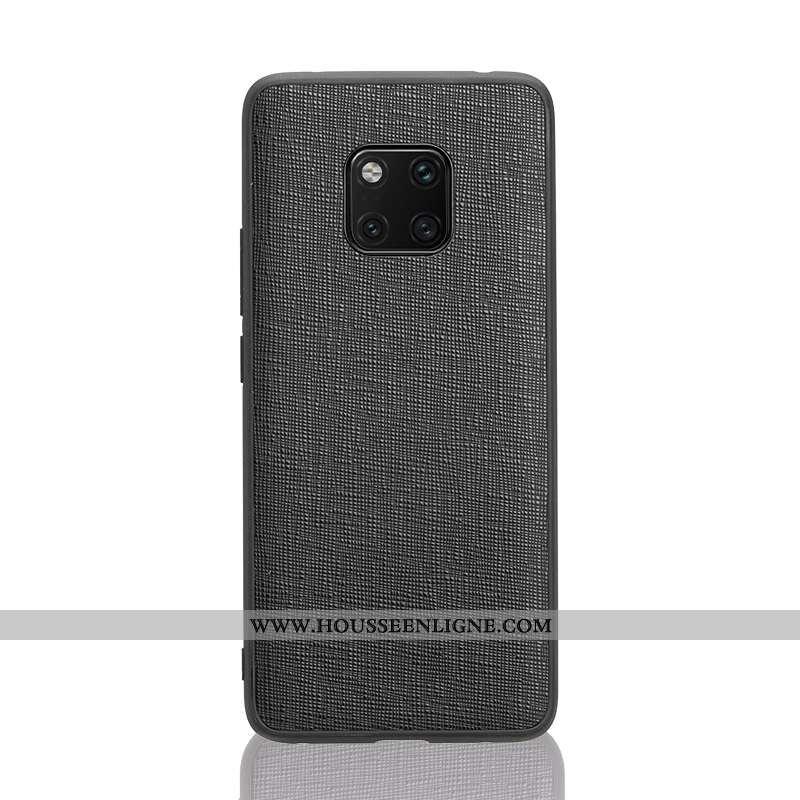 Étui Huawei Mate 20 Rs Cuir Véritable Ultra Qualité Coque Tendance Noir Cuir