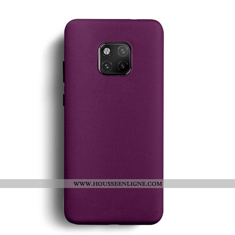 Étui Huawei Mate 20 Rs Tendance Cuir Protection Coque Violet Tout Compris Téléphone Portable