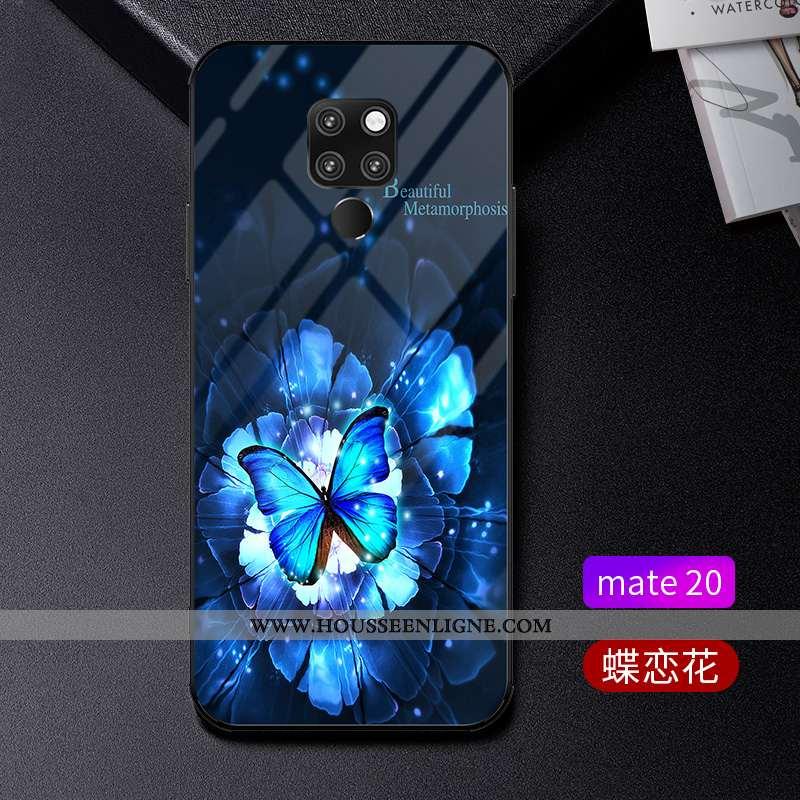 Étui Huawei Mate 20 Tendance Légère Incassable Protection Verre Bleu Luxe