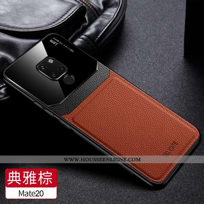 Étui Huawei Mate 20 Ultra Tendance Fluide Doux Téléphone Portable Personnalité Silicone Vent Marron