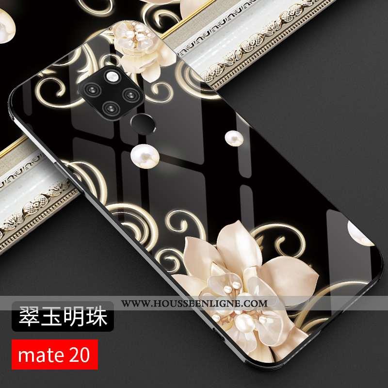 Étui Huawei Mate 20 Verre Personnalité Luxe Créatif Nouveau Légère Protection Noir