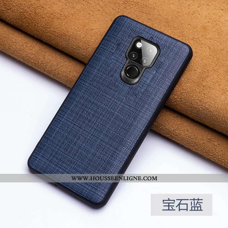 Étui Huawei Mate 20 X Fluide Doux Cuir Véritable Légère Ultra Bovins Bleu Marin Téléphone Portable B