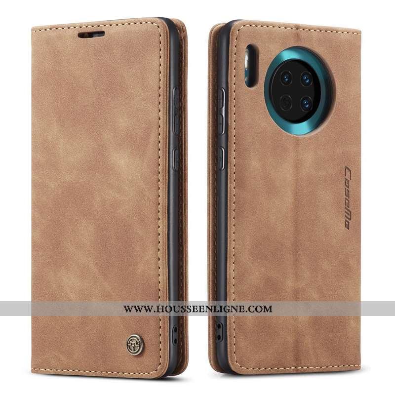 Étui Huawei Mate 30 Cuir Protection Clamshell Téléphone Portable Qualité Véritable Marron