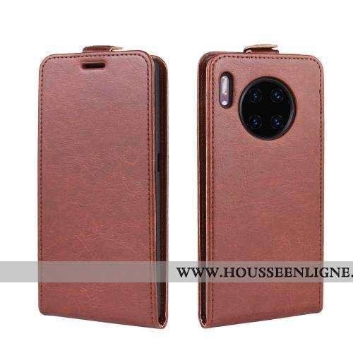 Étui Huawei Mate 30 Cuir Protection Marron Section Verticale Coque Téléphone Portable