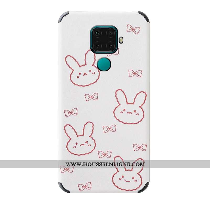 Étui Huawei Mate 30 Lite Modèle Fleurie Silicone Tendance Téléphone Portable Gaufrage Incassable Bla