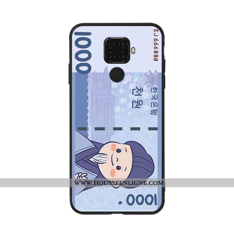Étui Huawei Mate 30 Lite Silicone Personnalité Fluide Doux Coque Charmant Bleu Nouveau