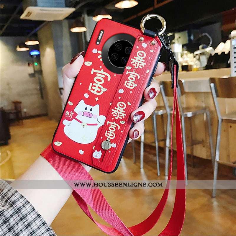Étui Huawei Mate 30 Ornements Suspendus Charmant Rouge Protection Coque Téléphone Portable