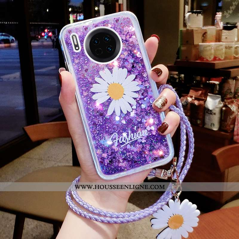 Étui Huawei Mate 30 Pro Ornements Suspendus Tendance Téléphone Portable Quicksand Luxe Petite Margue