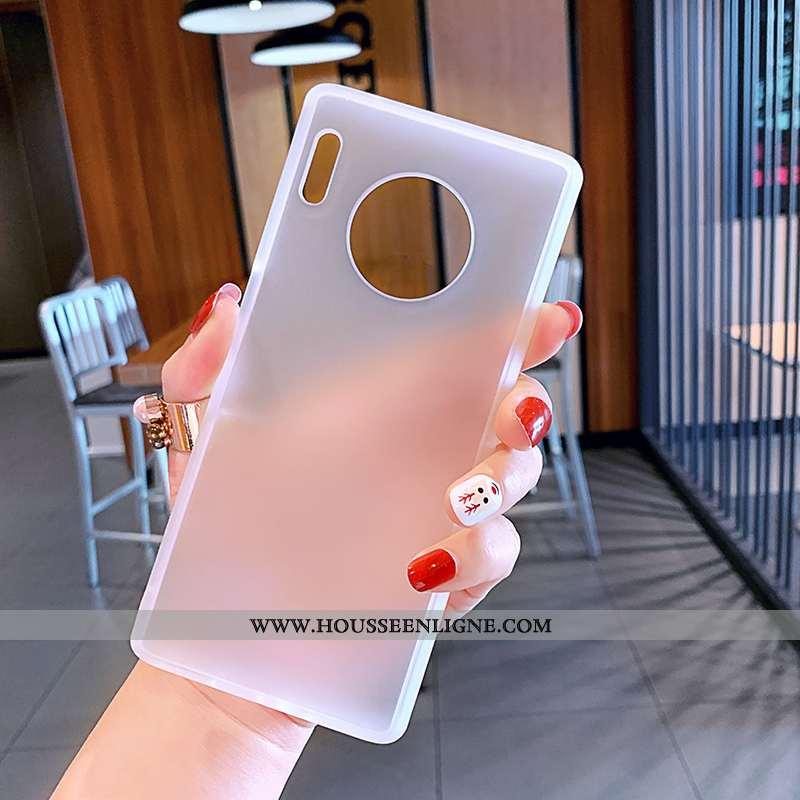 Étui Huawei Mate 30 Pro Ultra Tendance Blanc Vent Délavé En Daim Incassable Transparent Blanche