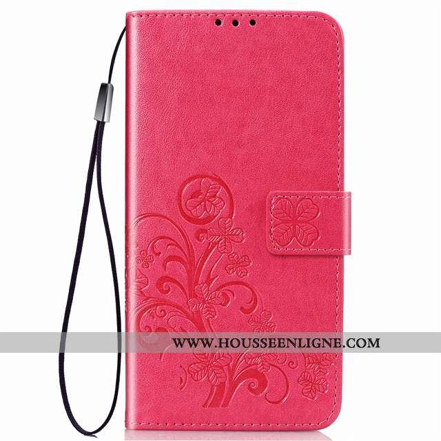 Étui Huawei Mate 30 Protection Cuir Rouge Housse Tout Compris Téléphone Portable Incassable Rose
