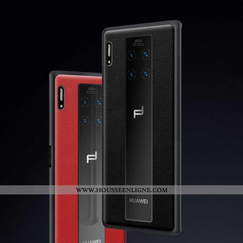 Étui Huawei Mate 30 Rs Protection Cuir Nouveau Incassable Noir Téléphone Portable Business