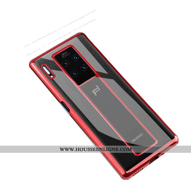 Étui Huawei Mate 30 Rs Protection Transparent Incassable Légère Coque Téléphone Portable Rouge