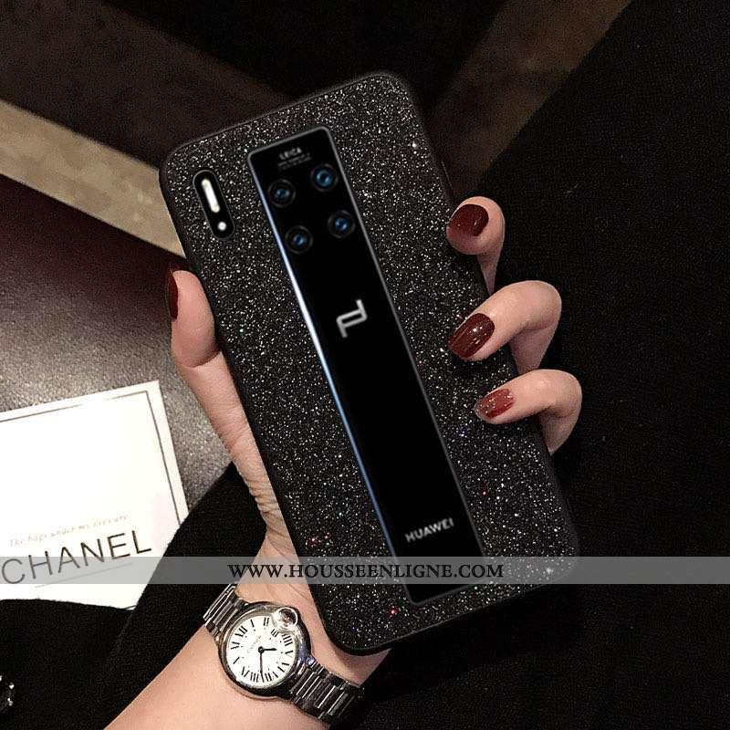 Étui Huawei Mate 30 Rs Ultra Tendance Coque Noir Net Rouge Tout Compris