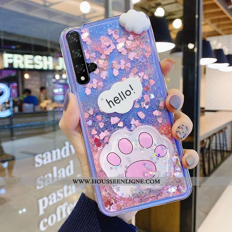 Étui Huawei Nova 5t Fluide Doux Mode Jeunesse Violet Téléphone Portable Rose Net Rouge
