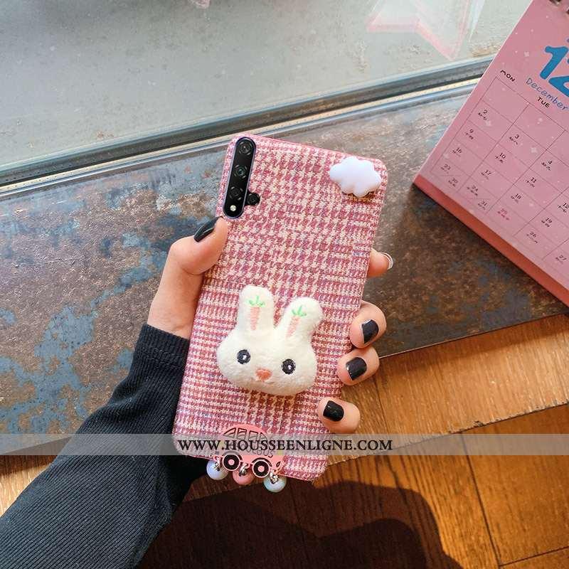Étui Huawei Nova 5t Légère Dessin Animé Téléphone Portable Tendance Petit Rose Charmant