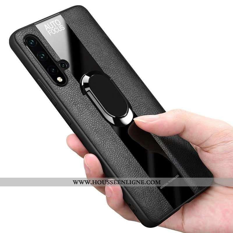 Étui Huawei Nova 5t Silicone Protection Noir Fluide Doux Tout Compris Incassable