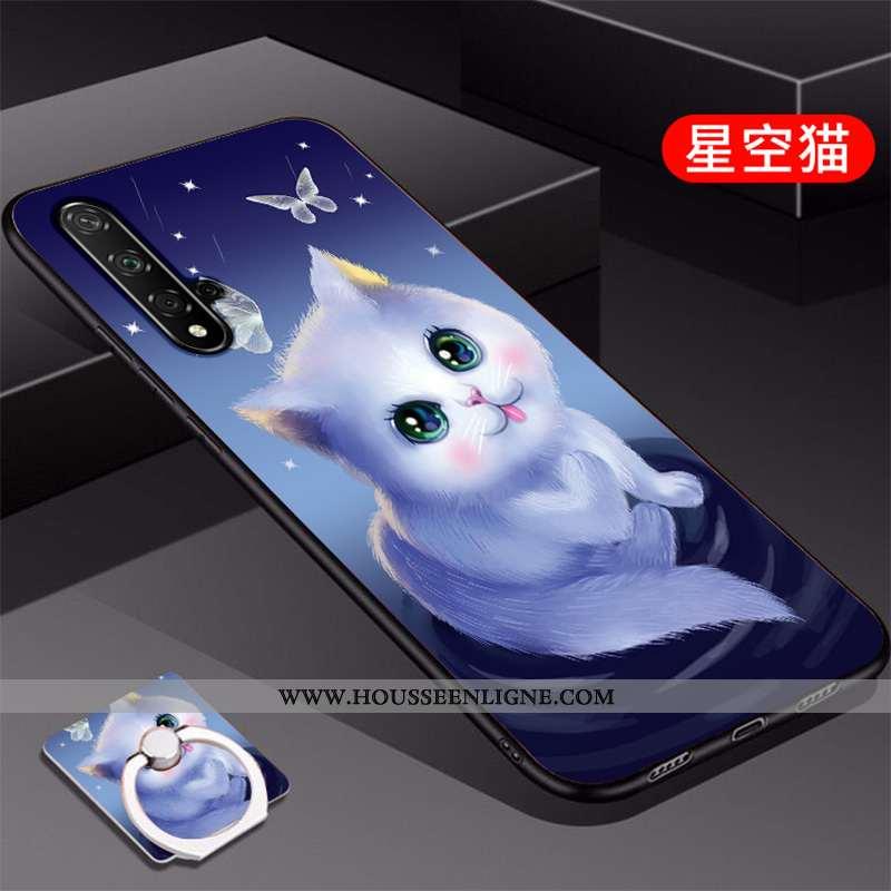 Étui Huawei Nova 5t Tendance Silicone Coque Téléphone Portable Bleu Protection
