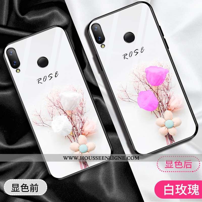 Étui Huawei P Smart 2020 Charmant Verre Style Chinois Coque Miroir Vent Violet Blanche