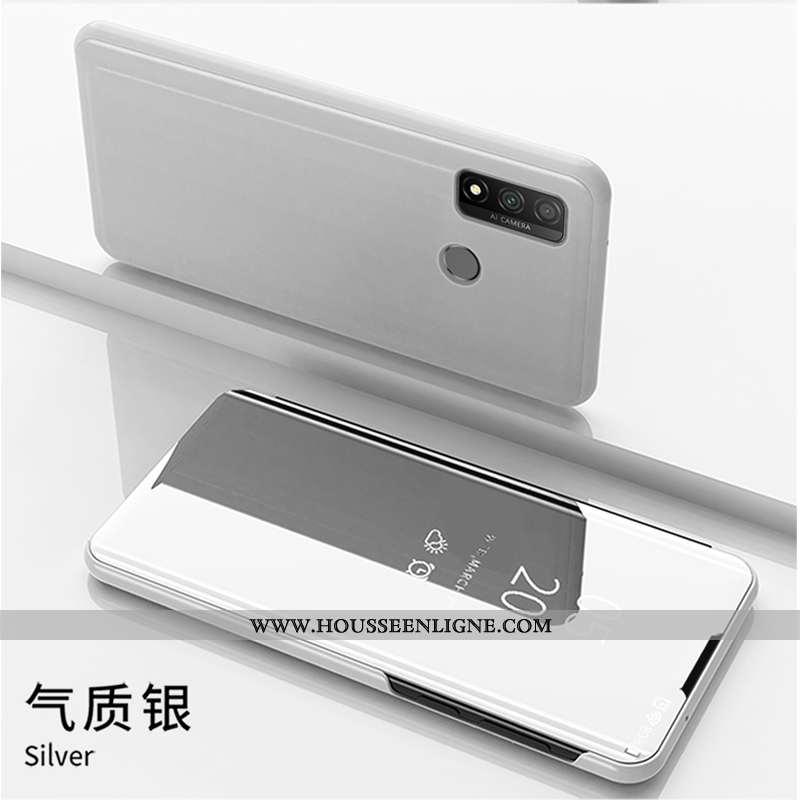 Étui Huawei P Smart 2020 Cuir Housse Blanc Téléphone Portable Coque Blanche