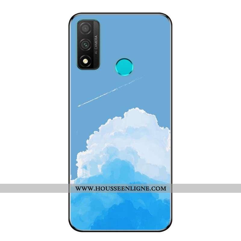 Étui Huawei P Smart 2020 Fluide Doux Protection Téléphone Portable Incassable Dessin Animé Noir Coqu