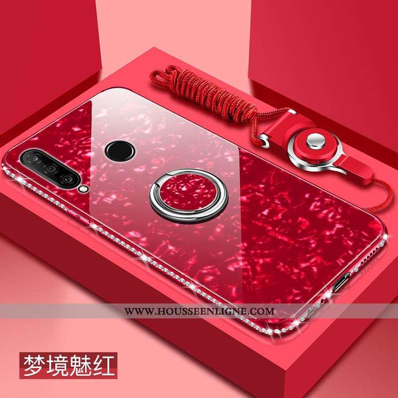 Étui Huawei P Smart+ 2020 Fluide Doux Silicone Protection Rouge Difficile Verre