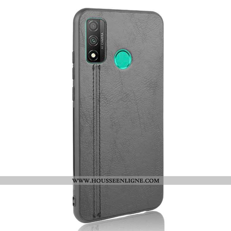 Étui Huawei P Smart 2020 Modèle Fleurie Protection Bovins Téléphone Portable Coque Petit Gris