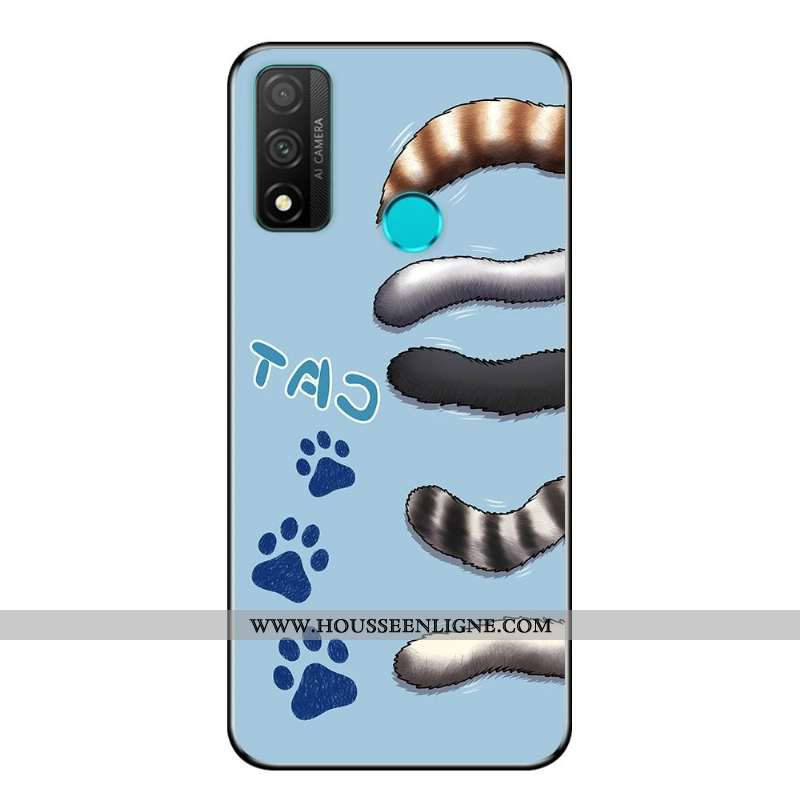 Étui Huawei P Smart 2020 Protection Délavé En Daim Fluide Doux Vent Dessin Animé Téléphone Portable