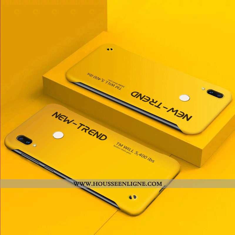 Étui Huawei P Smart 2020 Protection Délavé En Daim Incassable Créatif Légère Coque Jaune