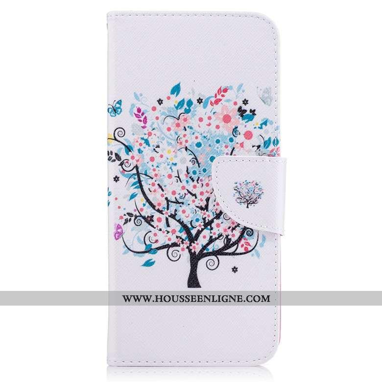 Étui Huawei P Smart 2020 Protection Dessin Animé Cuir Housse Téléphone Portable Coque Blanche