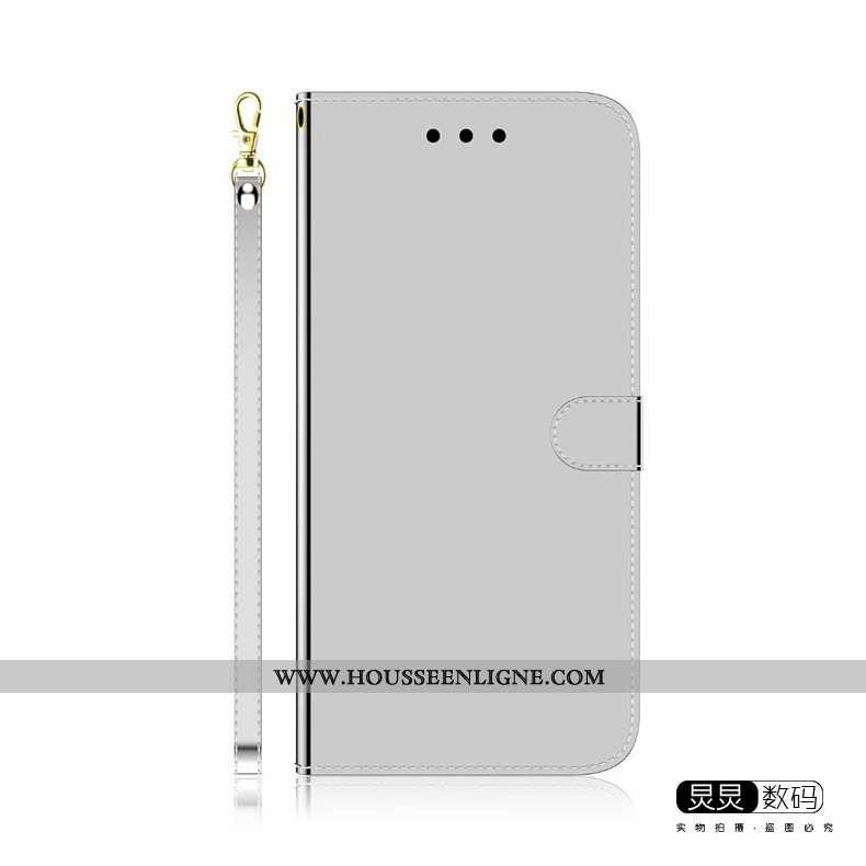 Étui Huawei P Smart 2020 Protection Tendance Cuir Coque Gris Téléphone Portable