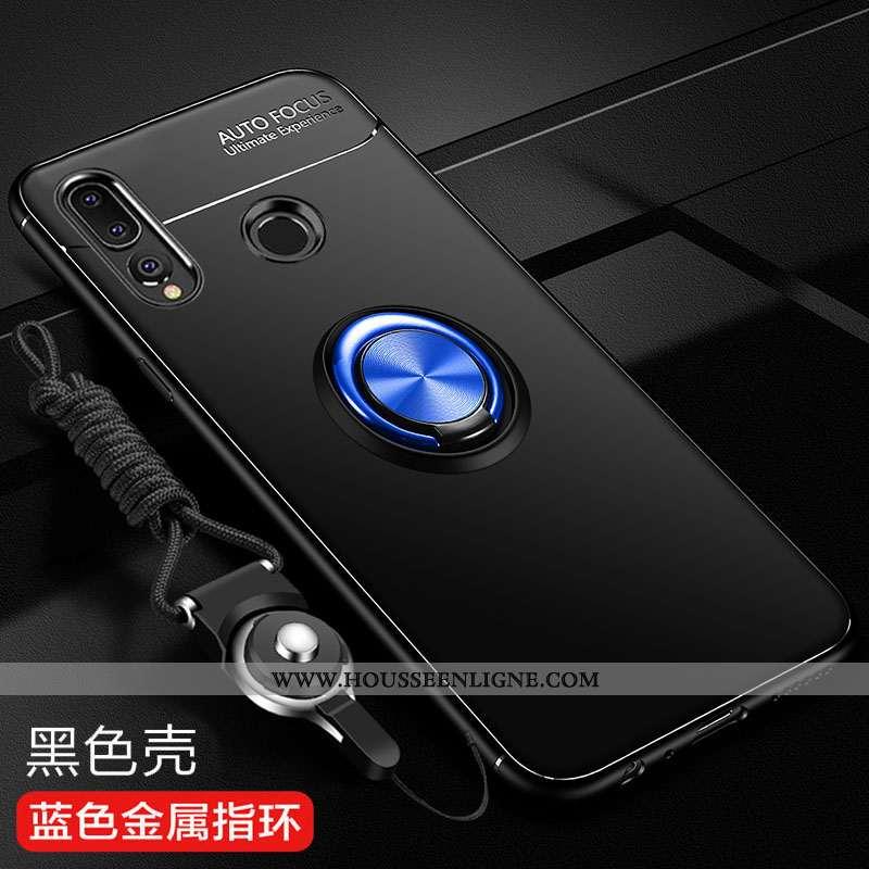 Étui Huawei P Smart+ 2020 Silicone Protection Incassable Tendance Fluide Doux Délavé En Daim Noir