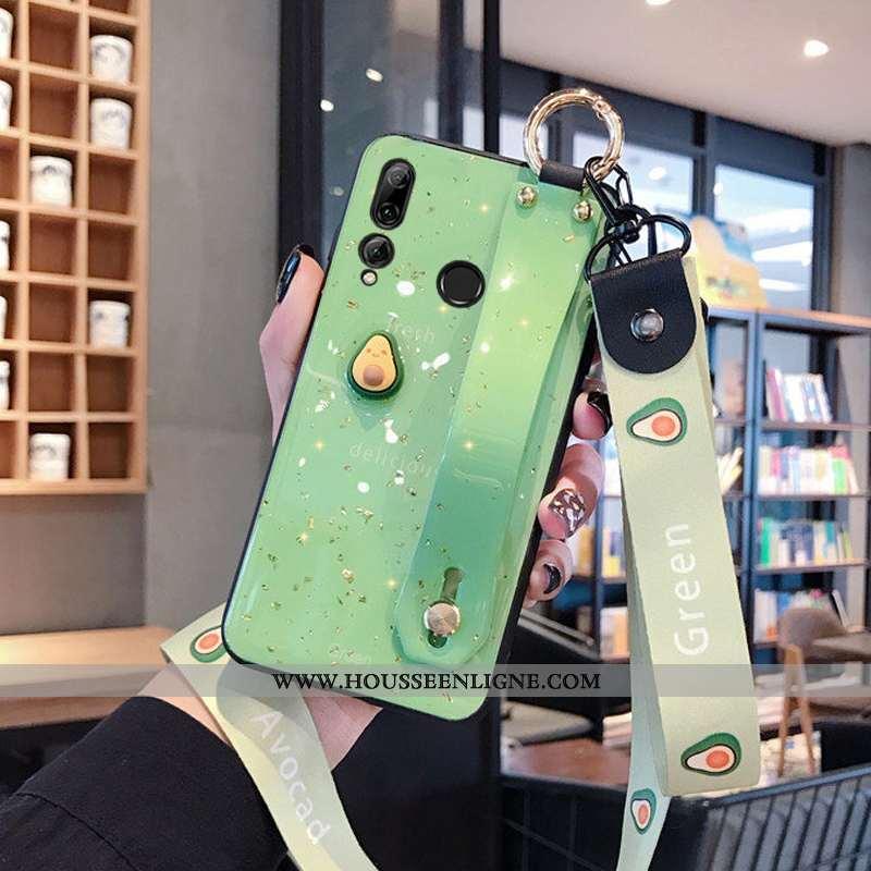 Étui Huawei P Smart+ 2020 Silicone Protection Ornements Suspendus Bovins Créatif Coque Cœur Violet