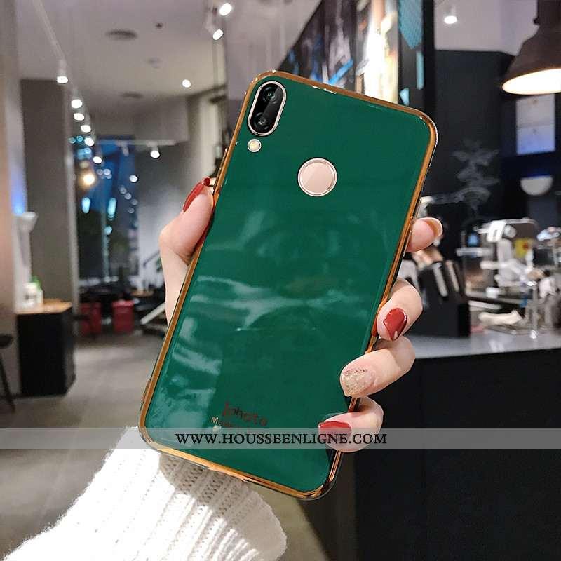 Étui Huawei P Smart+ Fluide Doux Silicone Membrane Mode Vert Téléphone Portable Protection Turquoise