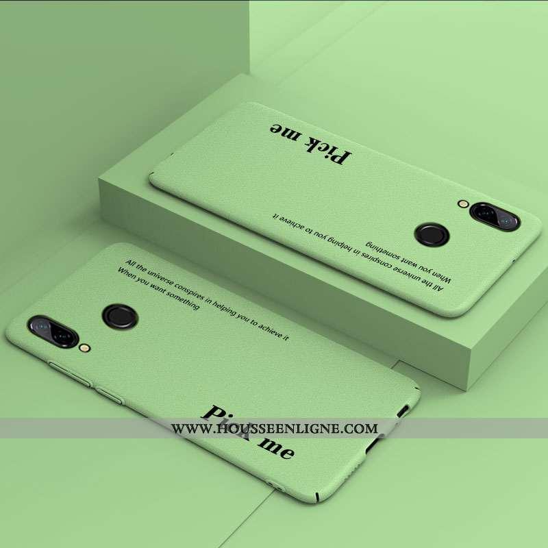 Étui Huawei P Smart+ Protection Délavé En Daim Simple Tout Compris Créatif Légère Difficile Verte