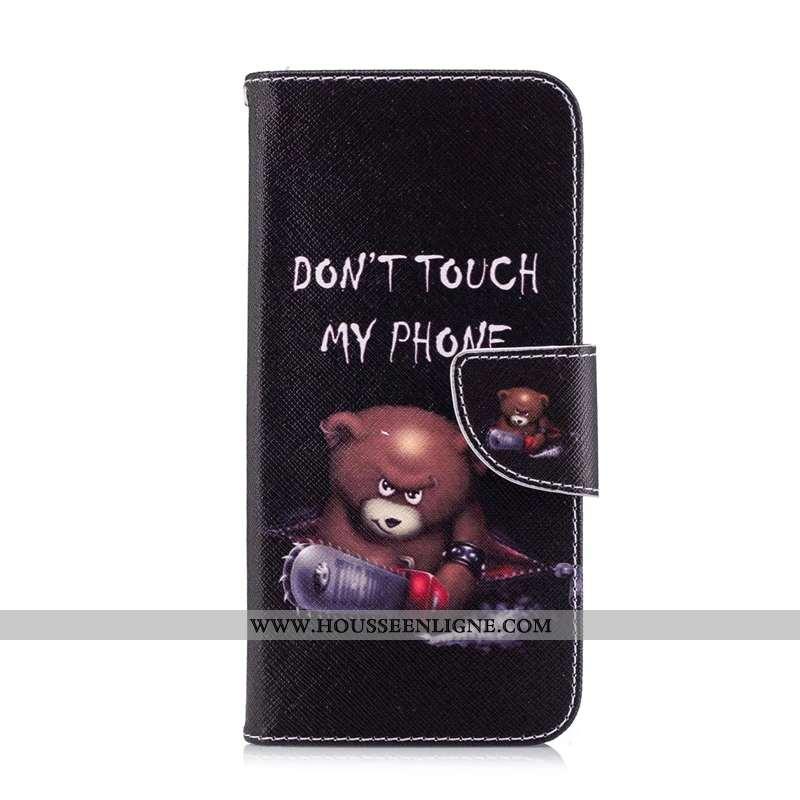 Étui Huawei P Smart Protection Dessin Animé Peinture Noir Housse Téléphone Portable