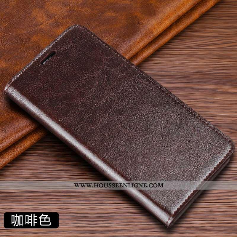 Étui Huawei P Smart Z Cuir Protection Incassable Housse Business Couleur Unie Marron