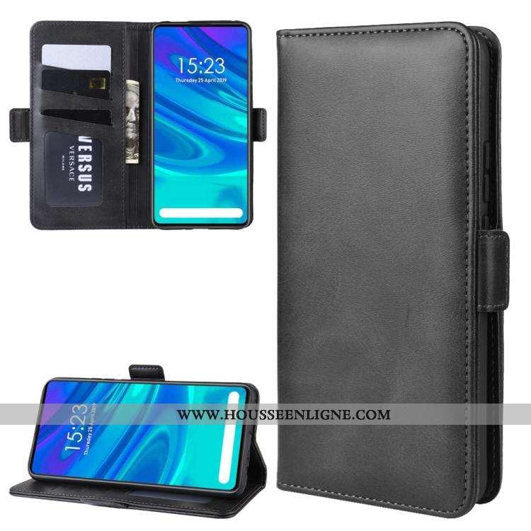 Étui Huawei P Smart Z Portefeuille Modèle Fleurie Coque Téléphone Portable Bovins Noir