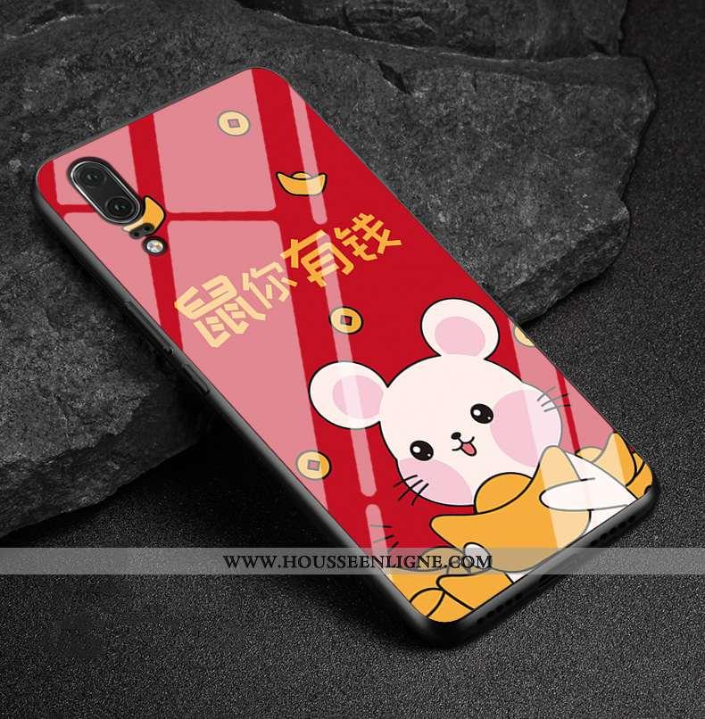 Étui Huawei P20 Cuir Véritable Fluide Doux Téléphone Portable Nouveau Protection Coque Richesse Roug