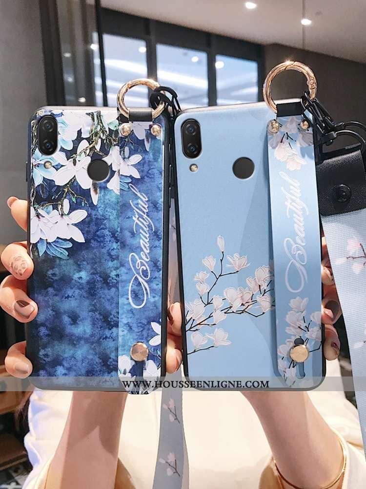 Étui Huawei P20 Lite Créatif Gaufrage Protection Bleu Incassable Silicone