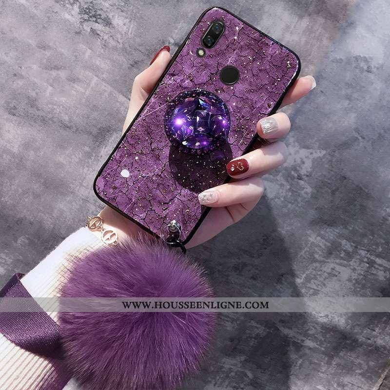 Étui Huawei P20 Lite Fluide Doux Téléphone Portable Jeunesse Cristal Coque Support Violet