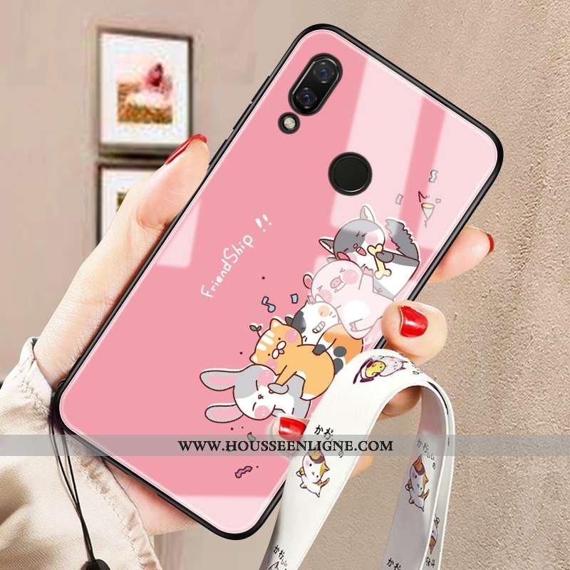 Étui Huawei P20 Lite Mode Protection Verre Dessin Animé Téléphone Portable Tendance Personnalité Ros