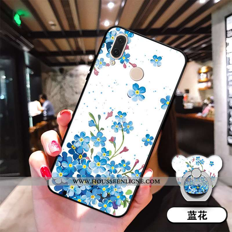 Étui Huawei P20 Lite Silicone Bleu Coque Téléphone Portable Incassable Jeunesse