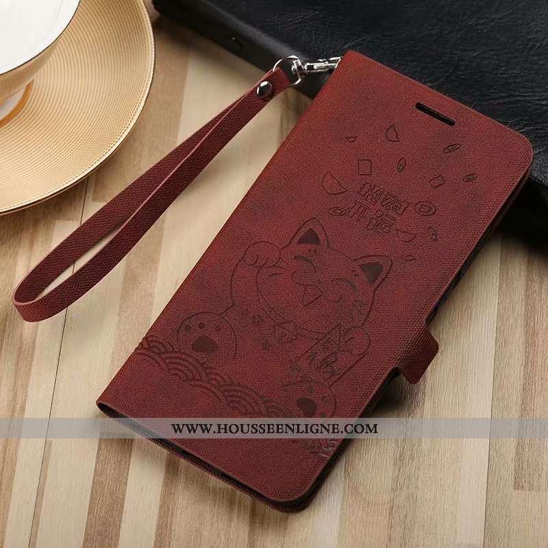 Étui Huawei P20 Portefeuille Cuir Incassable Carte Coque Housse Téléphone Portable Marron