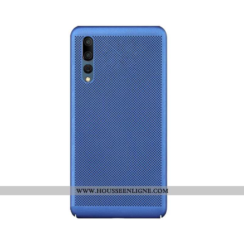 Étui Huawei P20 Pro Délavé En Daim Protection Mesh Bleu Coque Respirant