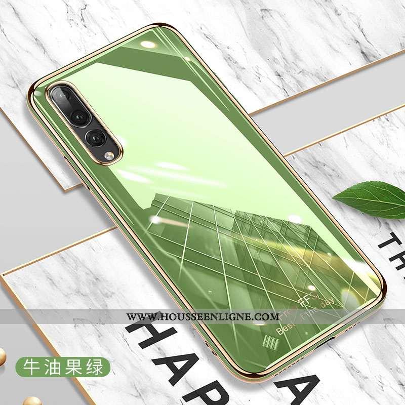 Étui Huawei P20 Pro Fluide Doux Silicone Tout Compris Vert Net Rouge Charmant Incassable Verte