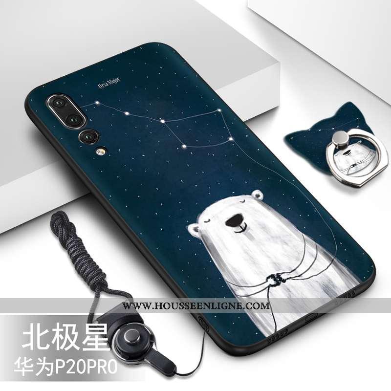 Étui Huawei P20 Pro Personnalité Créatif Coque Protection Incassable Noir