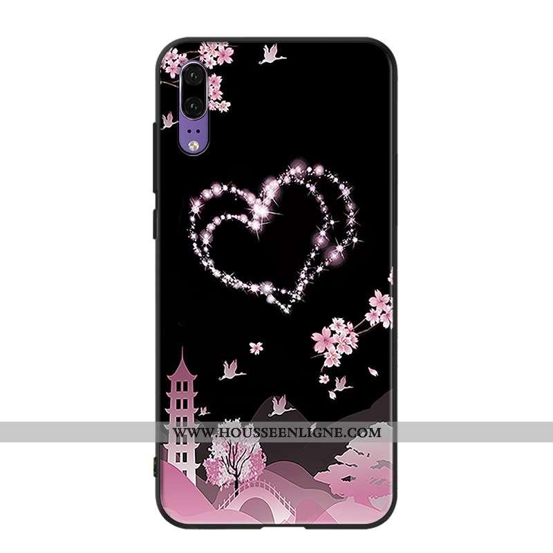 Étui Huawei P20 Protection Tendance Mode Téléphone Portable Rose Coque