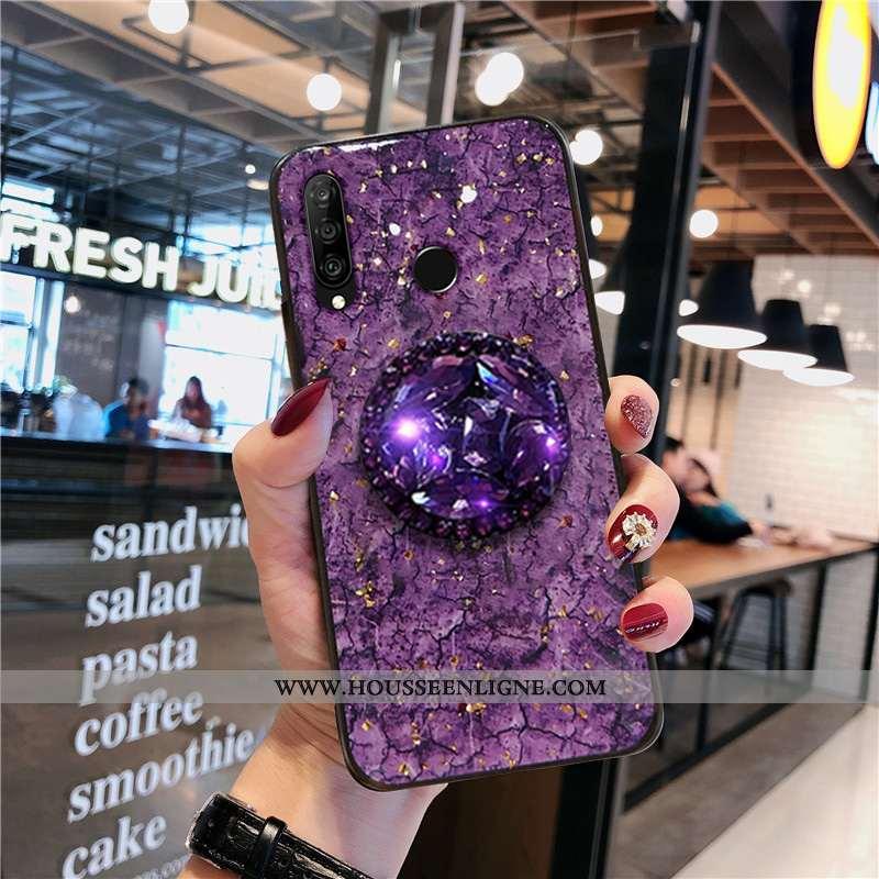 Étui Huawei P30 Lite Fluide Doux Silicone Incassable Dessin Animé Tout Compris Légère Protection Vio