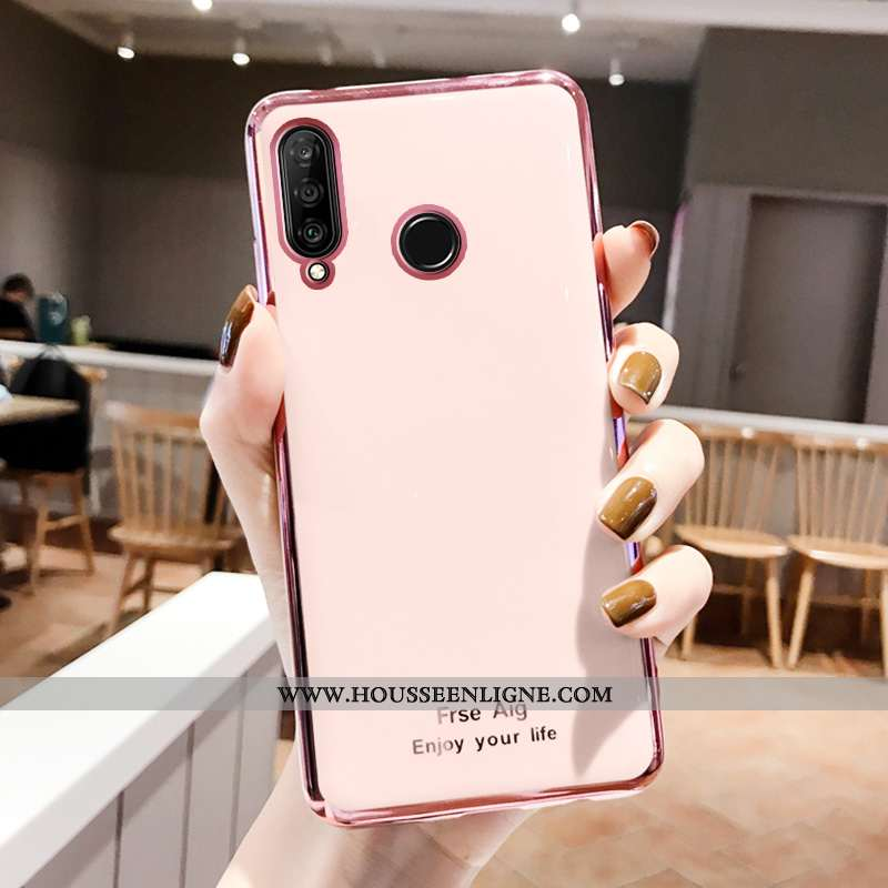 Étui Huawei P30 Lite Fluide Doux Silicone Net Rouge Téléphone Portable Vert Tout Compris Incassable