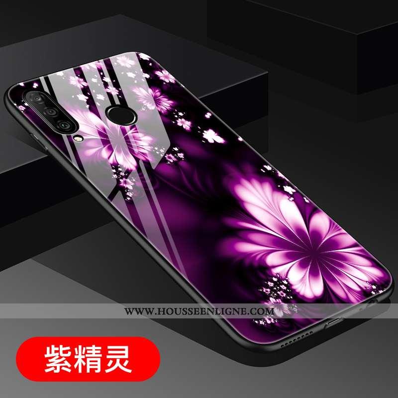 Étui Huawei P30 Lite Personnalité Tendance Incassable Tout Compris Jeunesse Clair Verre Violet